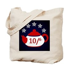 TeaParty-Button Tote Bag