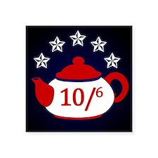 """TeaParty-Button Square Sticker 3"""" x 3"""""""