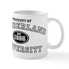 Property of Wonderland University black Mug