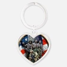 vets 2 Heart Keychain