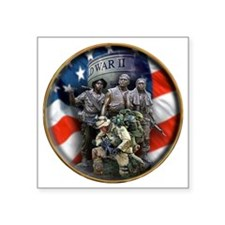 "vets 2 Square Sticker 3"" x 3"""
