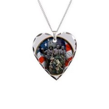 vets 2 Necklace Heart Charm