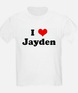 I Love Jayden Kids T-Shirt
