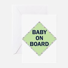 baby on board Greeting Cards (Pk of 10)