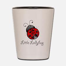 Ladybug -white Shot Glass