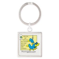 Ep.3 Birds Loaded Square Keychain