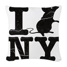 IRatNYeFaded Woven Throw Pillow