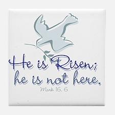he_is_risen_dove10cir Tile Coaster