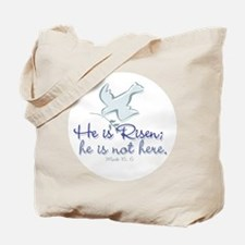 he_is_risen_dove10cir Tote Bag