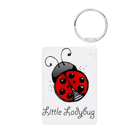 Ladybug -bib Aluminum Photo Keychain