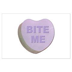 Bite Me Valentine Heart Posters