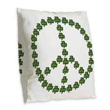 stpattys001drk Burlap Throw Pillow