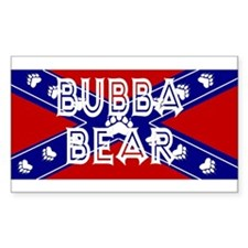 Souther bubba bear Rectangle Decal