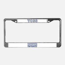 VOSS University License Plate Frame
