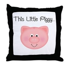 This Little Piggy Throw Pillow