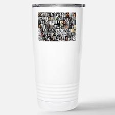 Dead Writer Collage Stainless Steel Travel Mug