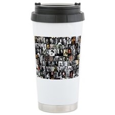 Dead Writer Collage Travel Mug