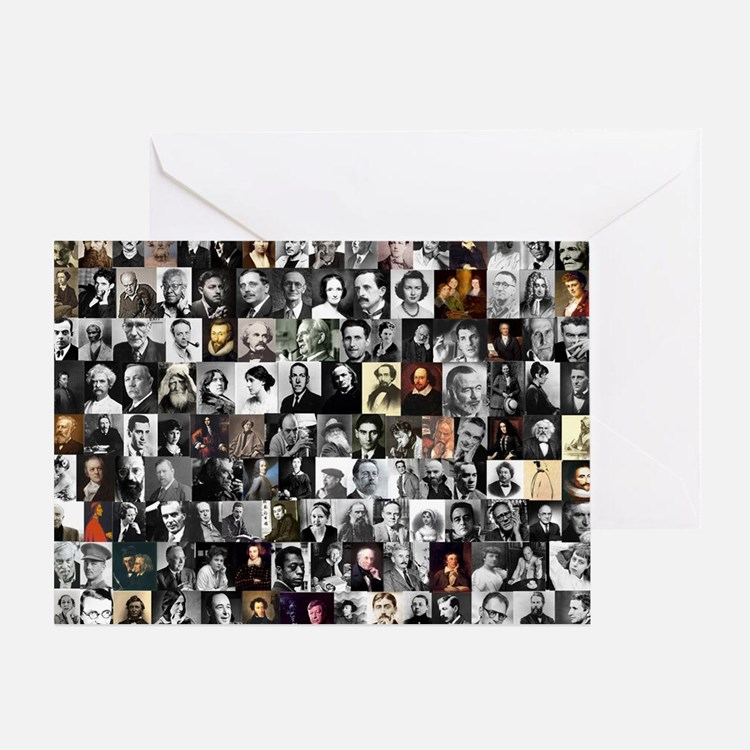 Dead Writer Collage Greeting Card