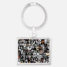 Dead Writer Collage Landscape Keychain