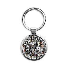 Dead Writers Collage Round Keychain