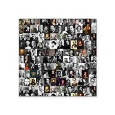 """Dead Writers Collage Square Sticker 3"""" x 3"""""""