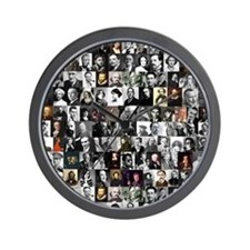 Dead Writers Collage Wall Clock