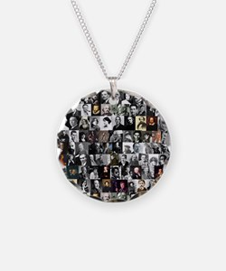 Dead Writers Collage Necklace