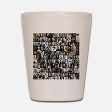 Dead Writers Collage Shot Glass