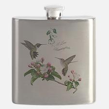 12 X hummingbirds Flask