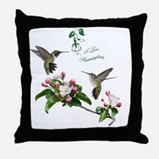 12 X hummingbirds Throw Pillow