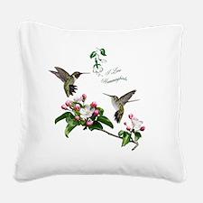 12 X hummingbirds Square Canvas Pillow