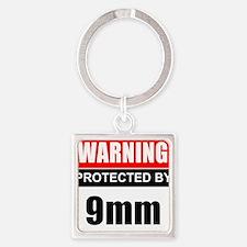 Warning 9mm Keychains