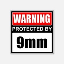 Warning 9mm Sticker