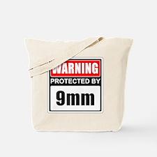 Warning 9mm Tote Bag