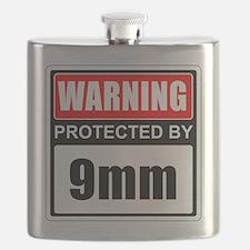 Warning 9mm Flask