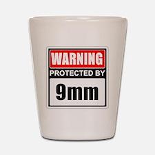 Warning 9mm Shot Glass