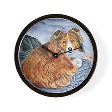 Lap Dog Wall Clock