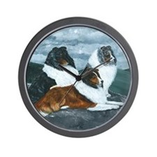 Mountain Mist Sheltie Wall Clock