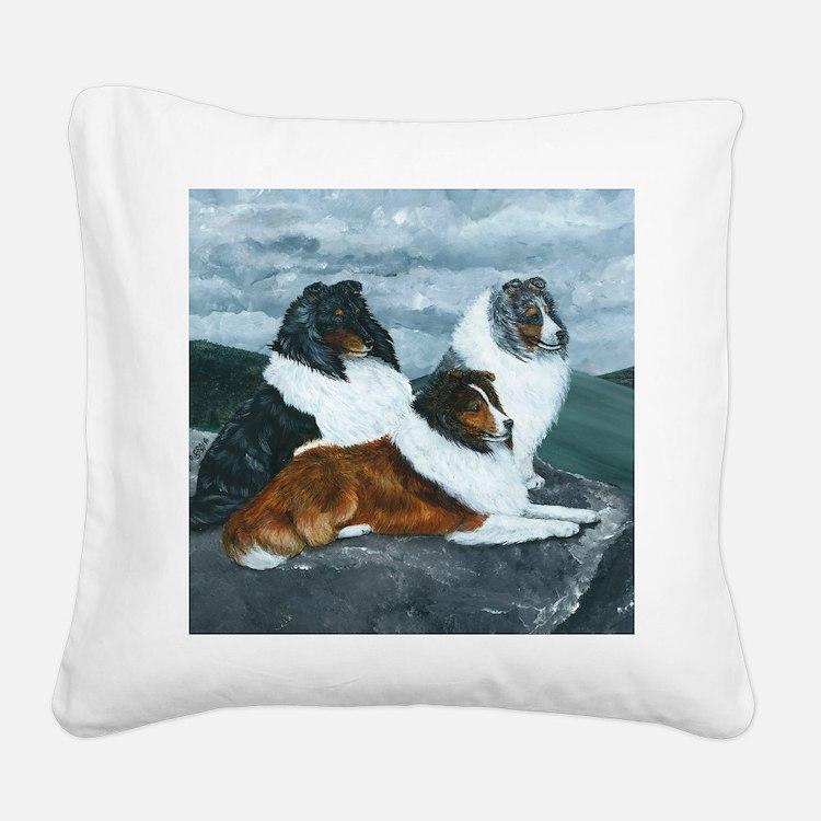Mountain Mist Sheltie Square Canvas Pillow