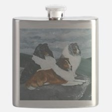 Mountain Mist Sheltie Flask