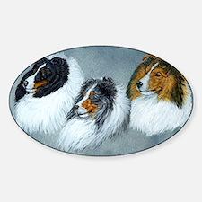 Sheltie Headstudies Sticker (Oval)
