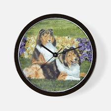 shetlie flower pair Wall Clock