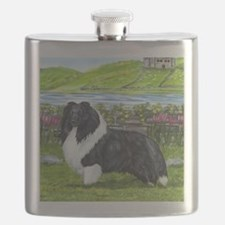 Bi Black Sheltie Flask