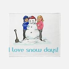 TR-I-Love-Snow-Days-10x14 Throw Blanket