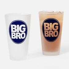 circle big bro blue Drinking Glass