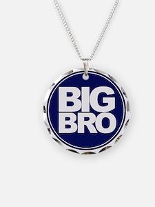 circle big bro blue Necklace