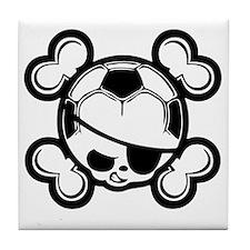 soccer-boy-skull-T Tile Coaster