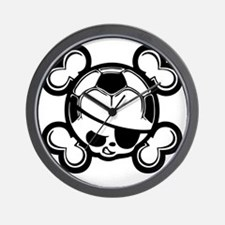 soccer-boy-skull-T Wall Clock