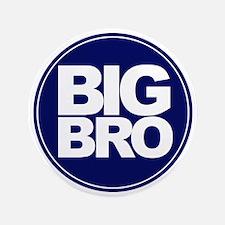 """circle big bro blue 3.5"""" Button"""
