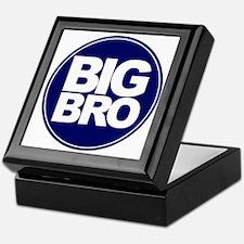 circle big bro blue Keepsake Box